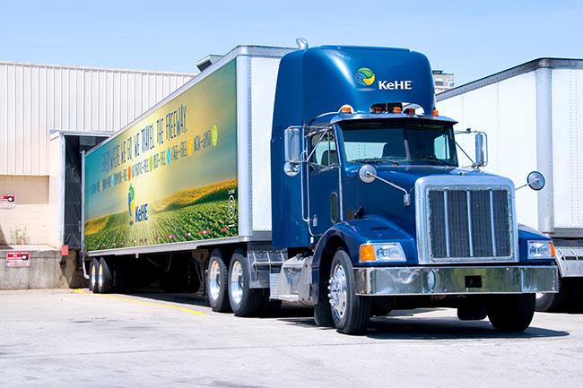 KeHE Truck at Distribution Center Loading Dock