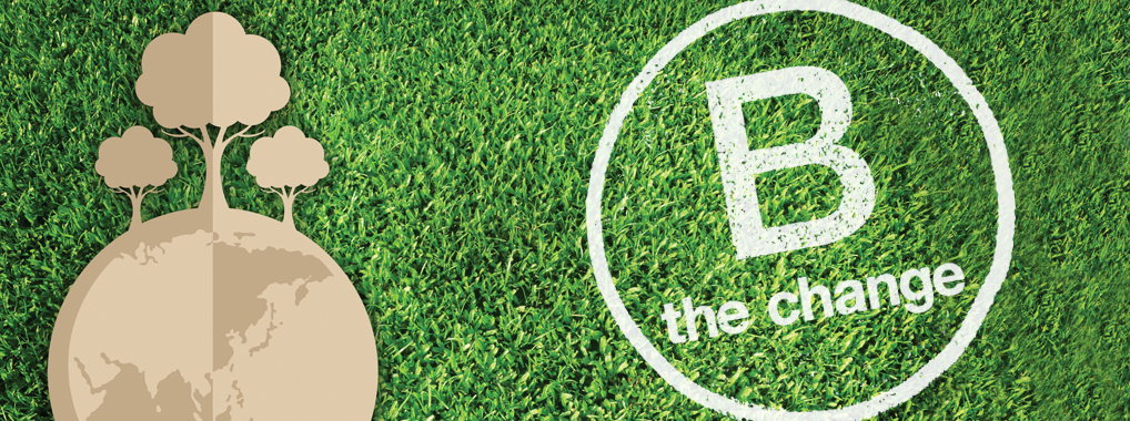 B Corp B the change logo