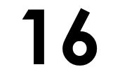 Graphic of the number 16.