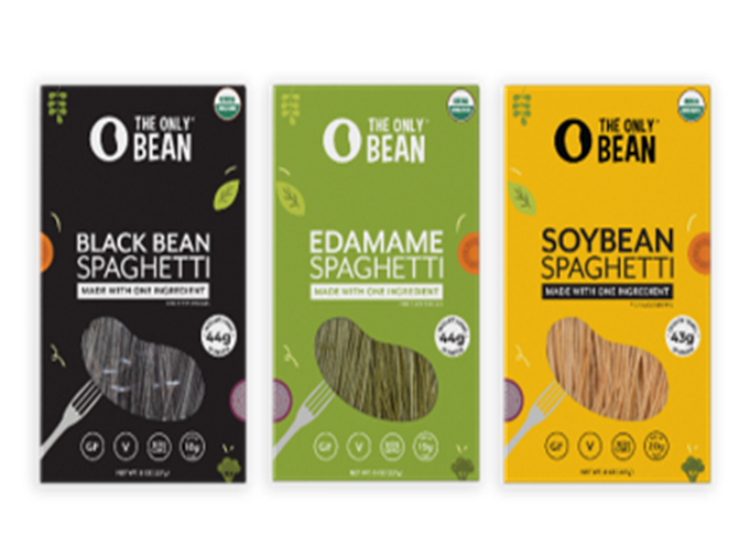 Only Bean spaghetti in black bean, edamame, and soybean