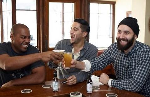 Hella Cocktails founders: Jomaree Pinkard, Tobin Ludwig, and Eddie Simeon