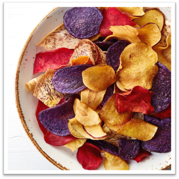 bowl of colorful chips