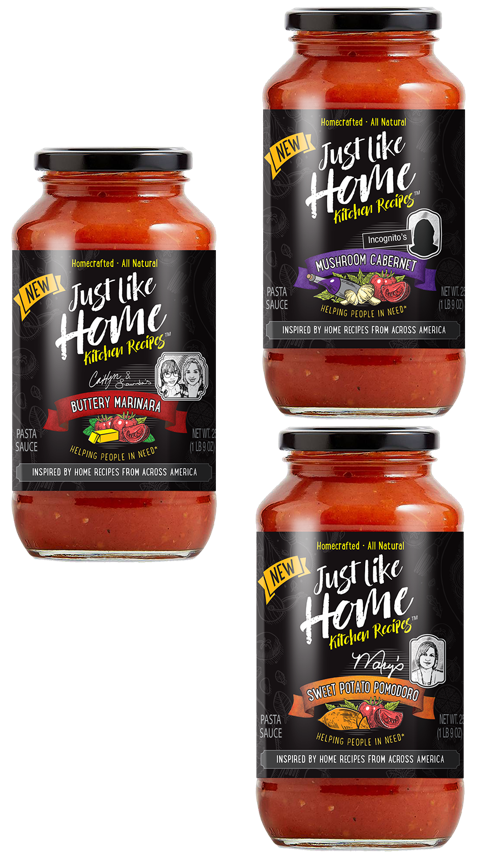 A special collection of all natural, home crafted pasta sauces inspired by real home recipes from kitchens and cultures across America to help support the homeless.