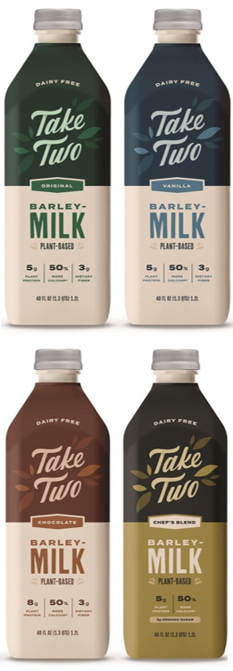 First-ever barley milk that tastes, nourishes, and performs like traditional dairy. Four times more sustainable than oat milk. Made from rejuvenated barley, gmo-free, complete plant protein, prebiotic fiber