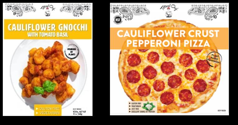 tattooed chef cauliflower gnocchi and cauliflower crust pepperoni pizza