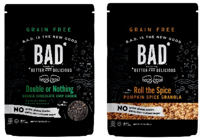 B.A.D. granola and cookies