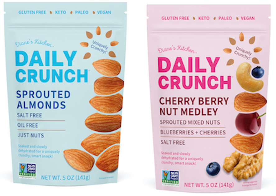 Daily Crunch sprouted nut snacks