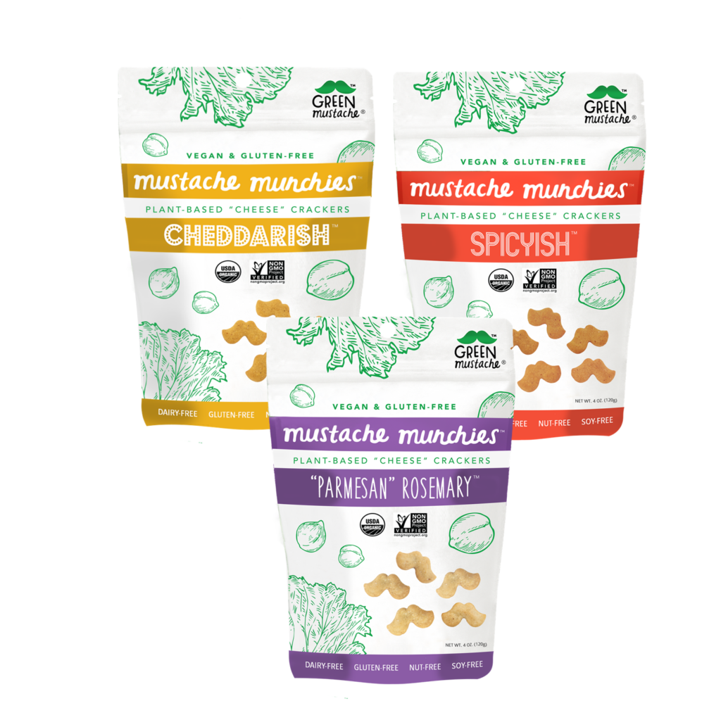 Green Mustache plant-based cheese crackers